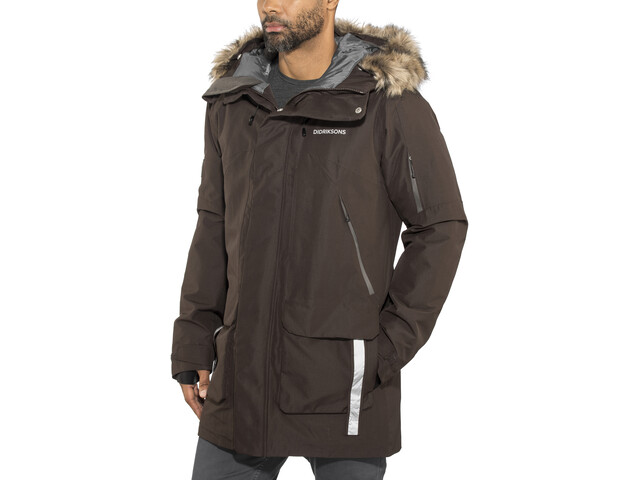 Didriksons 1913 Marcel Parka Homme, chocolate brown